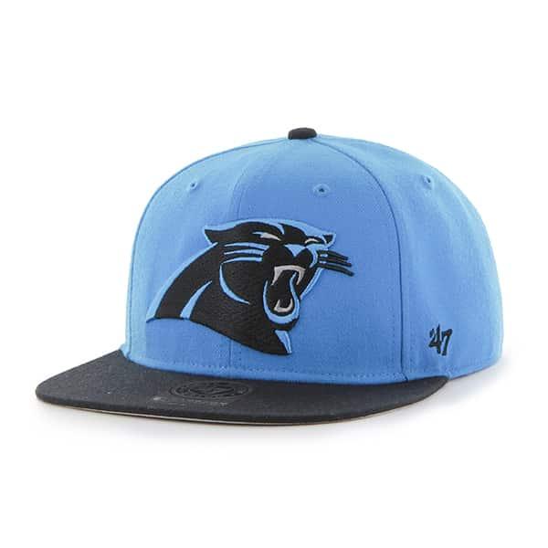 Carolina Panthers Super Shot Two Tone Captain Glacier Blue 47 Brand Adjustable Hat