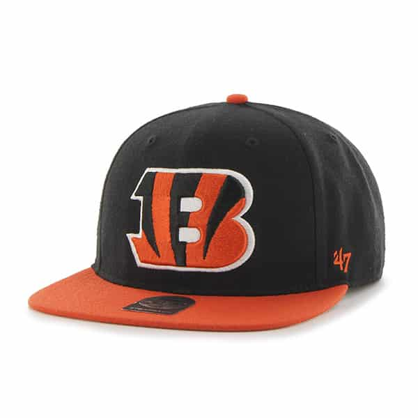 Cincinnati Bengals Super Shot Two Tone Captain Black 47 Brand Adjustable Hat