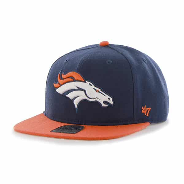 Denver Broncos Super Shot Two Tone Captain Light Navy 47 Brand Adjustable Hat