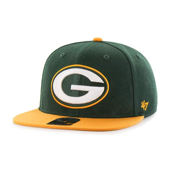 Green Bay Packers Super Shot Two Tone Captain Dark Green 47 Brand Adjustable Hat