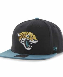 Jacksonville Jaguars Super Shot Two Tone Captain Black 47 Brand Adjustable Hat