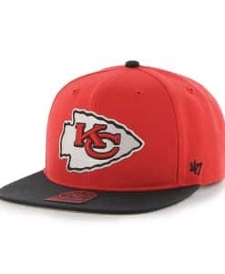 Kansas City Chiefs Super Shot Two Tone Captain Torch Red 47 Brand Adjustable Hat