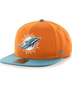 Miami Dolphins Super Shot Two Tone Captain Pylon 47 Brand Adjustable Hat