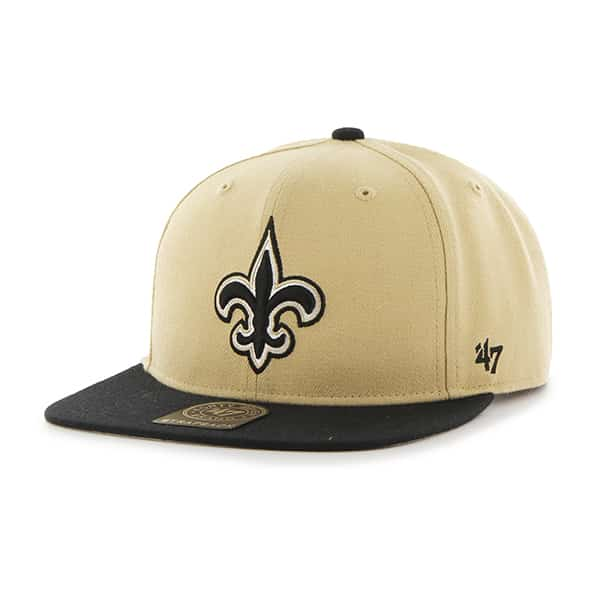 New Orleans Saints Super Shot Two Tone Captain Light Gold 47 Brand Adjustable Hat