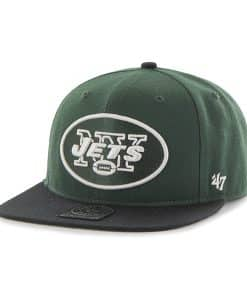 New York Jets Super Shot Two Tone Captain Dark Green 47 Brand Adjustable Hat