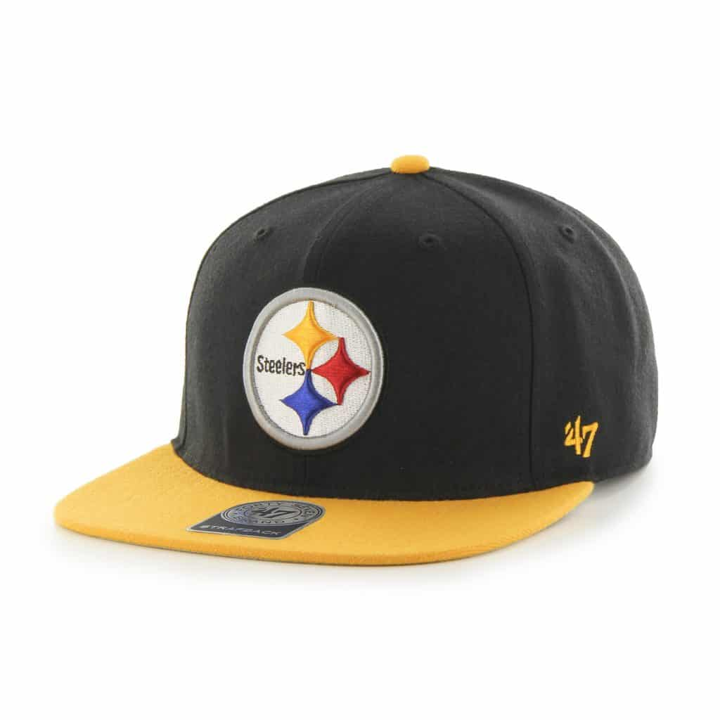 Pittsburgh Steelers Super Shot Two Tone Captain Black 47 Brand Adjustable Hat
