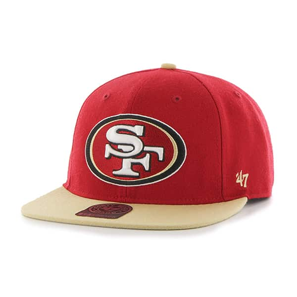 San Francisco 49Ers Super Shot Two Tone Captain Red 47 Brand Adjustable Hat