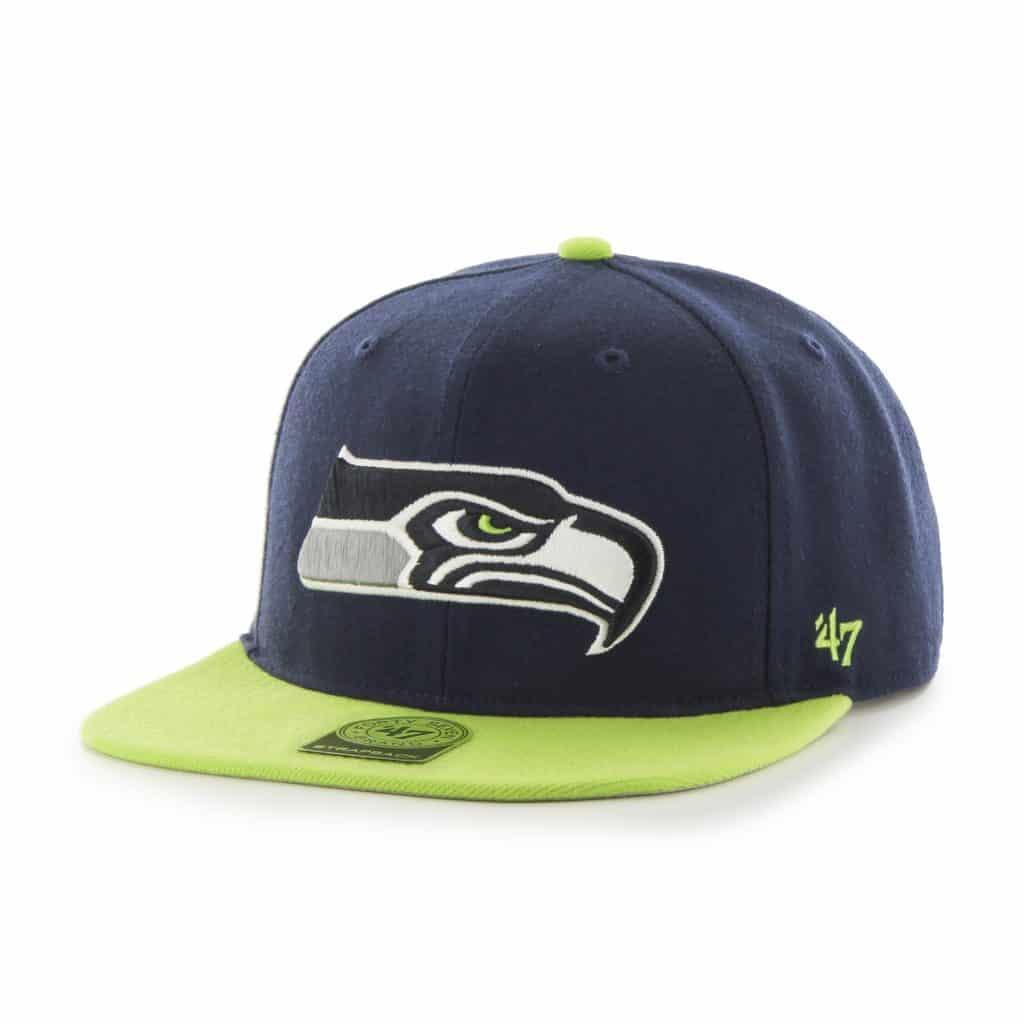 Seattle Seahawks Super Shot Two Tone Captain Light Navy 47 Brand Adjustable Hat
