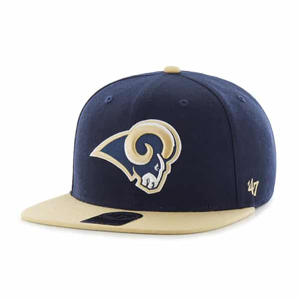 Los Angeles Rams Super Shot Two Tone Captain Light Navy 47 Brand Adjustable Hat