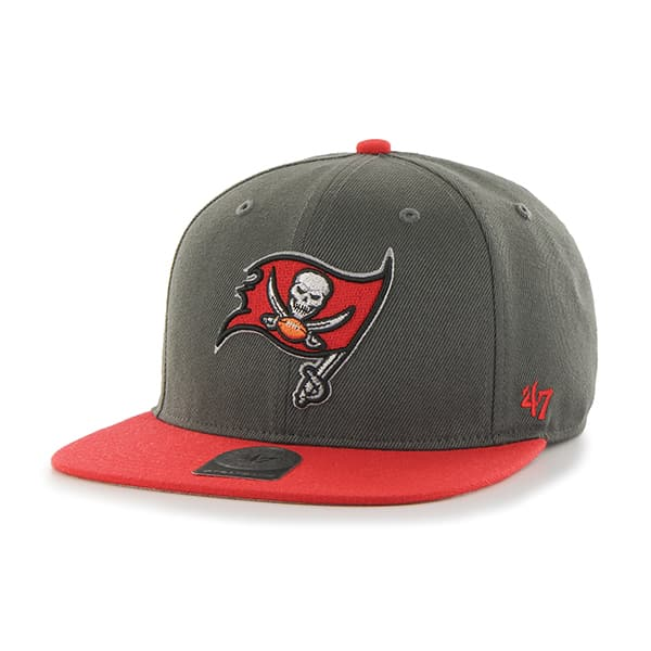 Tampa Bay Buccaneers Super Shot Two Tone Captain Graphite 47 Brand Adjustable Hat
