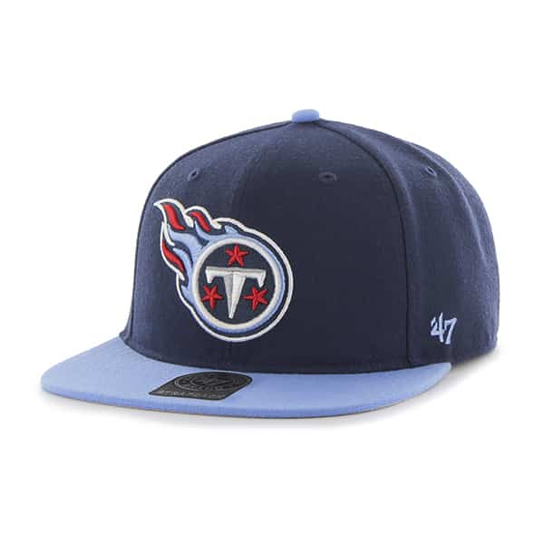 Tennessee Titans Super Shot Two Tone Captain Light Navy 47 Brand Adjustable Hat