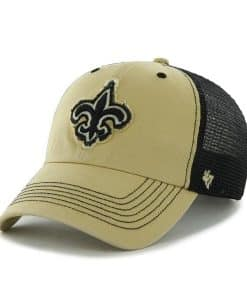 New Orleans Saints Taylor Closer Light Gold 47 Brand Stretch Fit Hat