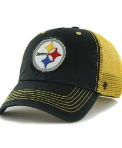 Pittsburgh Steelers Taylor Closer Black 47 Brand Stretch Fit Hat
