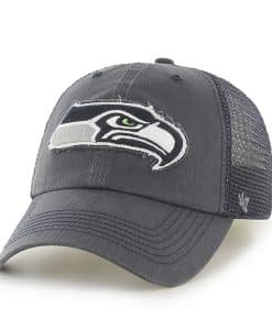 Seattle Seahawks Taylor Closer Charcoal 47 Brand Stretch Fit Hat