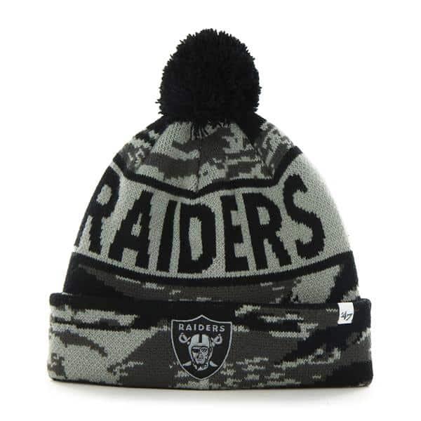 Oakland Raiders Tigertooth Tiger Camo 47 Brand Adjustable Hat