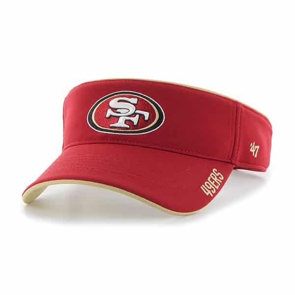 San Francisco 49Ers Top Rope Visor Red 47 Brand Adjustable Hat