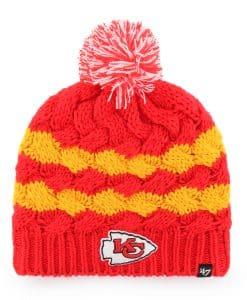 Kansas City Chiefs Women's 47 Brand Red Topsail Beanie Knit Hat