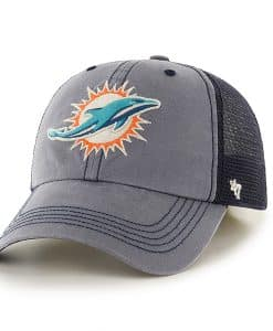 Miami Dolphins Trailway Closer Navy 47 Brand Stretch Fit Hat