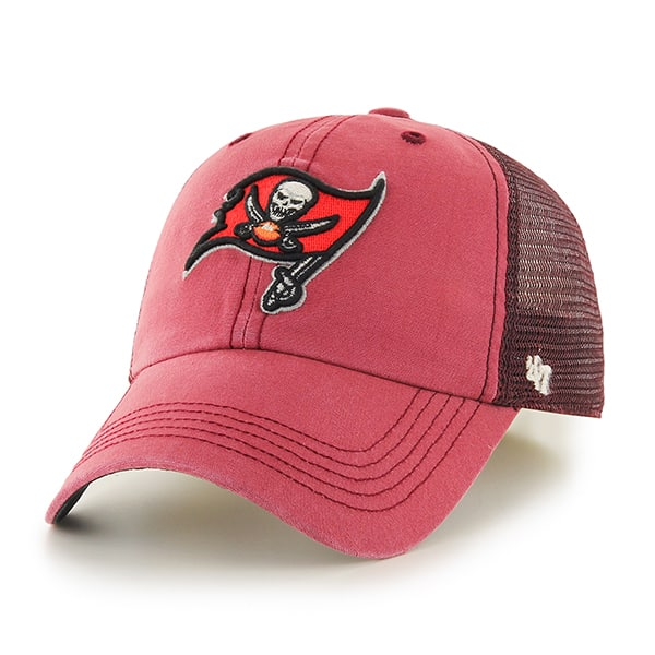 Tampa Bay Buccaneers Trailway Closer Red 47 Brand Stretch Fit Hat