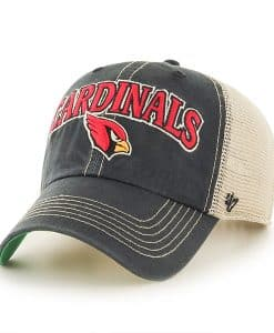 Arizona Cardinals Tuscaloosa Clean Up Vintage Black 47 Brand Adjustable Hat