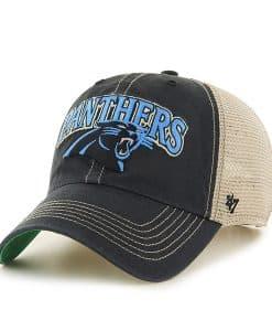 2946eaa51 Carolina Panthers Tuscaloosa Clean Up Vintage Black 47 Brand Adjustable Hat