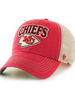 Kansas City Chiefs Tuscaloosa Clean Up Vintage Red 47 Brand Adjustable Hat