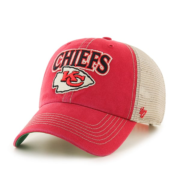 online store ccdfc dbde0 Kansas City Chiefs Tuscaloosa Clean Up Vintage Red 47 Brand Adjustable Hat  - Detroit Game Gear