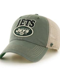 New York Jets Tuscaloosa Clean Up Bottle Green 47 Brand Adjustable Hat