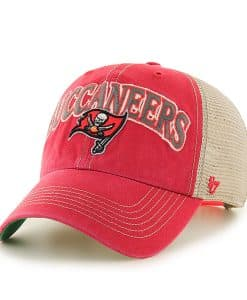 Tampa Bay Buccaneers Tuscaloosa Clean Up Vintage Red 47 Brand Adjustable Hat