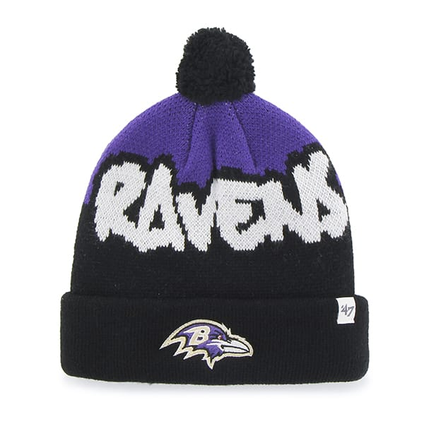 Baltimore Ravens Underdog Cuff Knit Black 47 Brand KID Hat