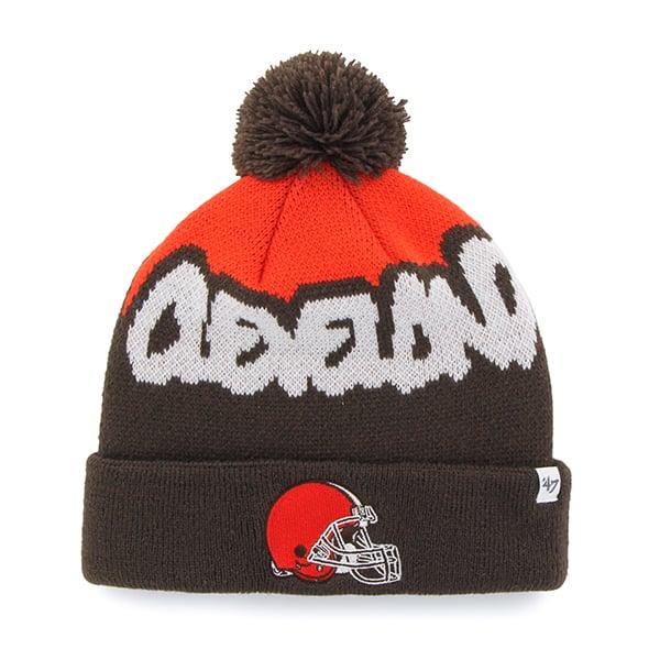 Cleveland Browns Underdog Cuff Knit Brown 47 Brand KID Hat