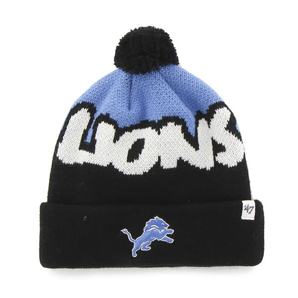 Detroit Lions Underdog Cuff Knit Black 47 Brand KID Hat