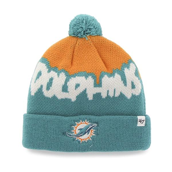 Miami Dolphins Underdog Cuff Knit Neptune 47 Brand KID Hat