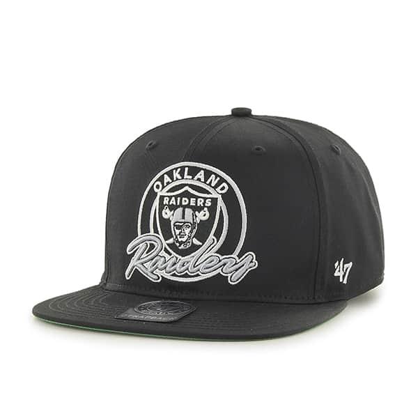 Oakland Raiders Virapin Black 47 Brand Adjustable Hat