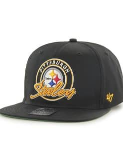 Pittsburgh Steelers Virapin Black 47 Brand Adjustable Hat