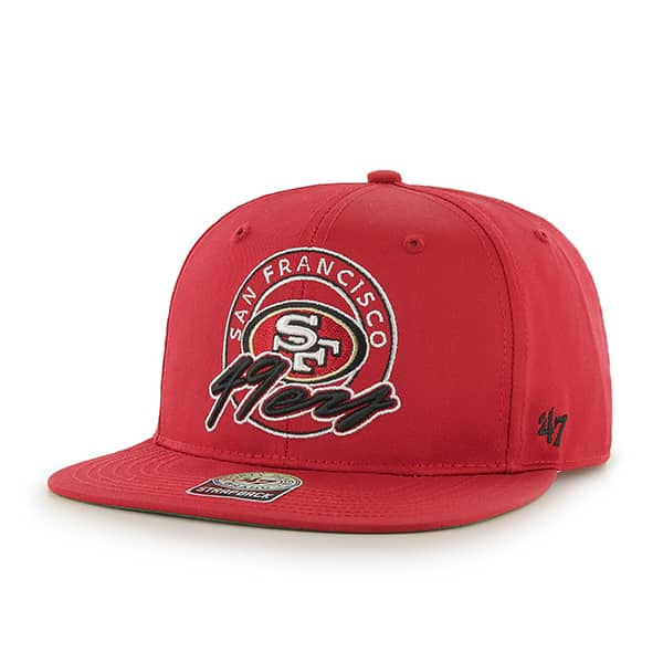 San Francisco 49Ers Virapin Red 47 Brand Adjustable Hat