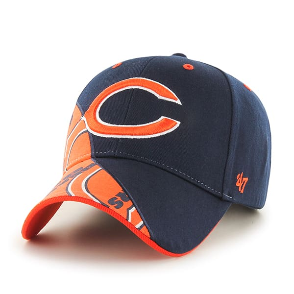 Chicago Bears Wedge MVP Navy 47 Brand Adjustable Hat
