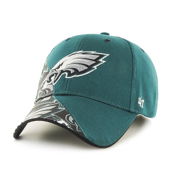 8f797a1cbb4 Philadelphia Eagles Wedge MVP Pacific Green 47 Brand Adjustable Hat