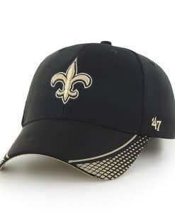 New Orleans Saints Warhawk MVP Black 47 Brand Adjustable Hat