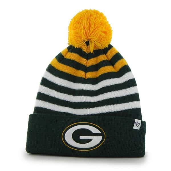 Green Bay Packers Yipes Cuff Knit Dark Green 47 Brand KID Hat