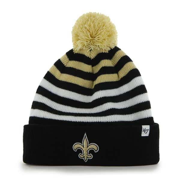 New Orleans Saints Yipes Cuff Knit Black 47 Brand KID Hat