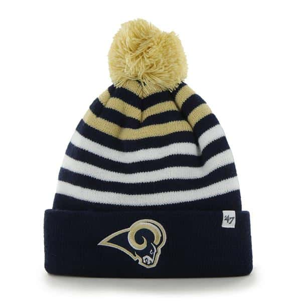 Los Angeles Rams Yipes Cuff Knit Light Navy 47 Brand KID Hat