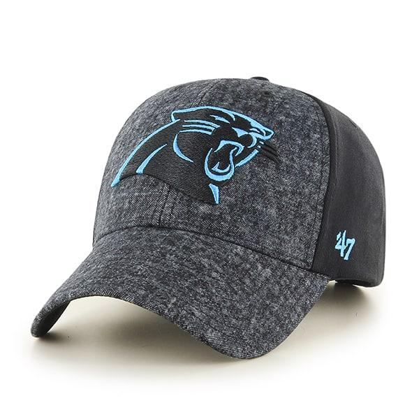 Carolina Panthers Zonda MVP Black 47 Brand Adjustable Hat