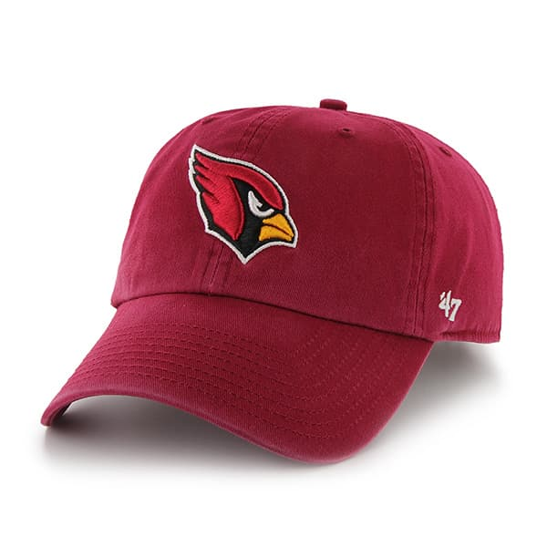 Arizona Cardinals Clean Up W/ Side Embroidery Dark Red 47 Brand Adjustable Hat