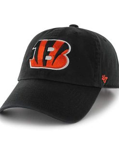 Cincinnati Bengals Clean Up W/ Side Embroidery Black 47 Brand Adjustable Hat
