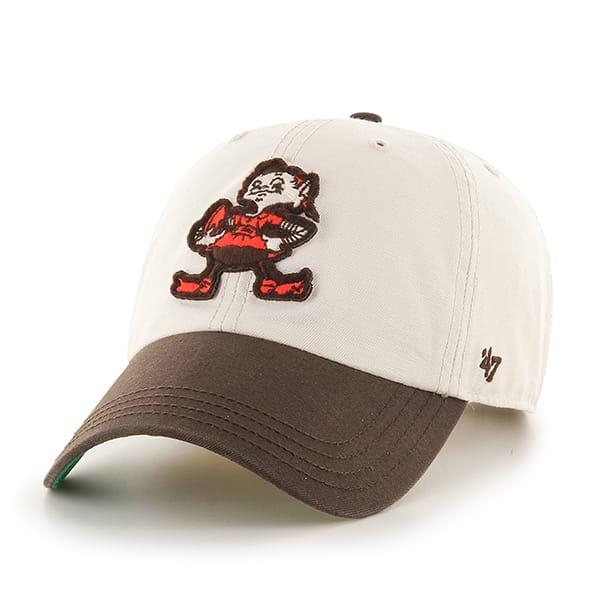 Cleveland Browns Horseshoe Clean Up Natural 47 Brand Adjustable Hat