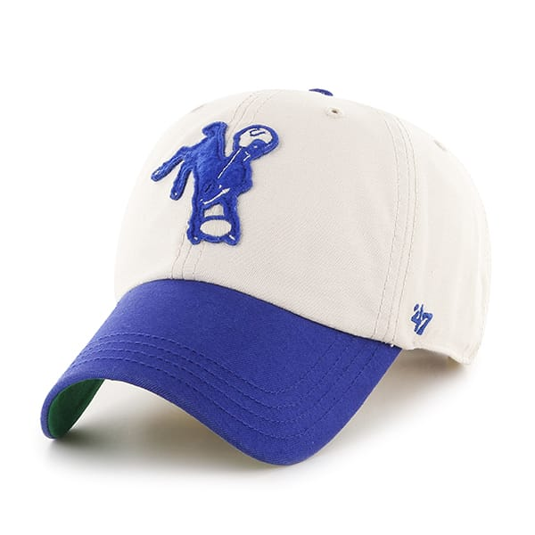 Indianapolis Colts Horseshoe Clean Up Natural 47 Brand Adjustable Hat