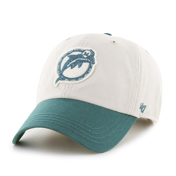 new style 27251 37aeb Miami Dolphins Horseshoe Clean Up Natural 47 Brand Adjustable Hat - Detroit  Game Gear