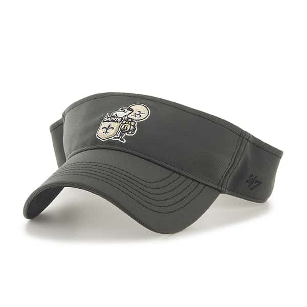 New Orleans Saints Defiance Visor Graphite 47 Brand Adjustable Hat
