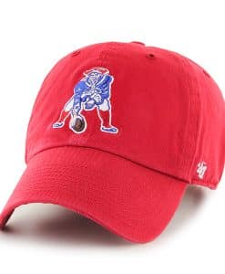 New England Patriots 47 Brand Red Clean Up Adjustable Hat
